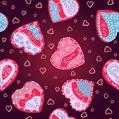 Vector Pattern hearts for St. Valentine's Day