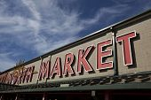 COLUMBUS, OHIO-SEPTEMBER 27, 2014:  The North Market is an iconic landmark in Columbus, Ohio.  It was built in 1876 and features more than 30 merchants.