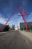 COLUMBUS, OHIO-SEPTEMBER 27, 2014:  The iconic Art sign welcomes people the the Columbus College of Art and Design in Columbus, Ohio.