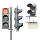 The image of the railway traffic lights