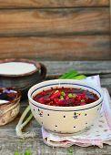 Traditional Ukrainian Beet Soup Borsch