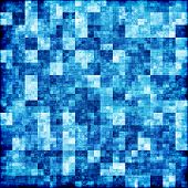 Blue Checkered Abstract Background