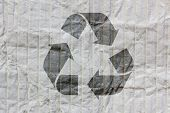 Recycle Logo On Old Paper