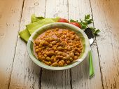 pasta with beans, traditional italian recipe