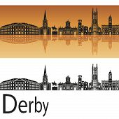 Derby Skyline In Orange Background