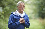Senior Man Suffering Heart Attack Whilst Jogging