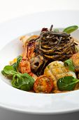 picture of tiger prawn  - Seafood Spaghetti with Tiger Prawns - JPG