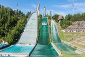 Lahti, Finland - June 21,2011: The Symbol Of The City, Ski Jump