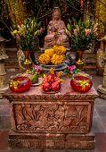 A Statue In A Temple In Hanoi, Vietnam