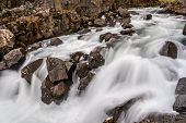 Flowing River Water In Thingvellir National Park, Iceland