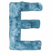 Watercolor vector capital letter E
