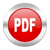 pdf red circle chrome web icon isolated