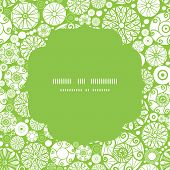 Vector abstract green and white circles circle frame seamless pattern background