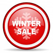 winter sale web icon