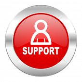 support red circle chrome web icon isolated