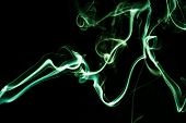 Abstract Green Smoke Background