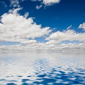 Clouds On The Seawater