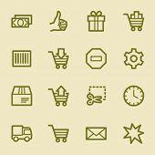Shopping cart web icons