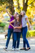 Teenage Girls Making Selfie