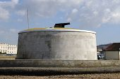 picture of martello  - Martello Tower on seafront at Seaford in East Sussex - JPG