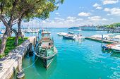 Harbor With Boat In Desenzano On Lake Garda, Italy