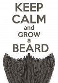 pic of calm  - Conceptual Background Keep Calm and grow a Beard - JPG