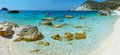Petani Beach (kefalonia, Greece) Panorama.