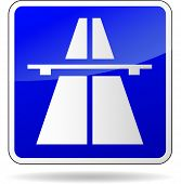 Freeway Blue Sign