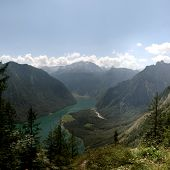 Lake KÃnigssee in the bavarian Alps