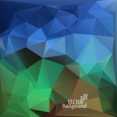 Abstract Geometric Background For Use In Design - Vector Illustration