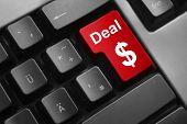 Keyboard Red Button Deal Dollar Symbol