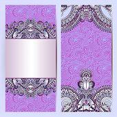decorative label card for vintage design,