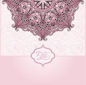 Islamic vintage floral pattern, template frame
