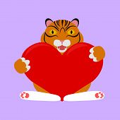 pic of tiger cub  - cute little tiger cub for Valentine - JPG