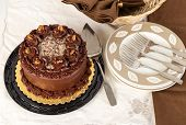 ������, ������: German Chocolate Cake With Serving Dishes