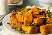picture of butternut  - Organic Baked Butternut Squash with Herbs and Spices - JPG