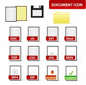 Document Icon Set for Business and Education Professional
