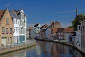 Canal in Bruges (Flanders, Belgium)