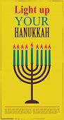 Happy Hanukkah greeting card design, jewish holiday.