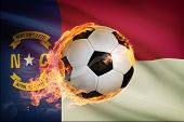 Soccer Ball With Flag On Background Series - North Carolina