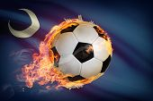Soccer Ball With Flag On Background Series - South Carolina