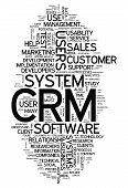 Word Cloud Crm - Customer Relationship Management