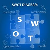 Swot Analysis Diagram Infographic