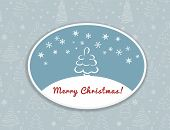 Merry Christmas postcard design