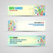 Vector banners from numbers