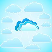 Cloud  icon. Vector illustration
