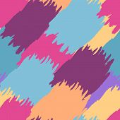 Colorful Abstract Watercolor Brush Background, Vector Seamless Pattern
