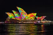 SYDNEY, NSW/AUSTRALIA - JUNE 08: Vivid Sydney festival on June 08, 2014 in Sydney.
