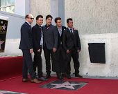LOS ANGELES - OCT 9:  New Kids On The Block, at the New Kids On the Block Hollywood Walk of Fame Star Ceremony at Hollywood Boulevard on October 9, 2014 in Los Angeles, CA