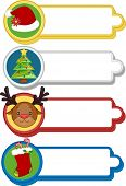 Illustration Featuring Ready to Print Labels with a Christmas Theme